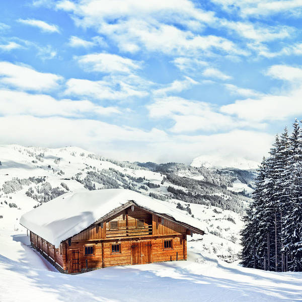 Chalet Photograph - Winter View by Juhy13