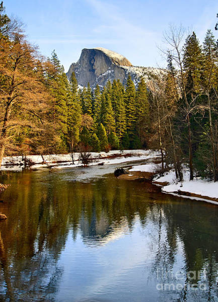 Half Dome Wall Art - Photograph - Winter View Of Half Dome In Yosemite National Park. by Jamie Pham