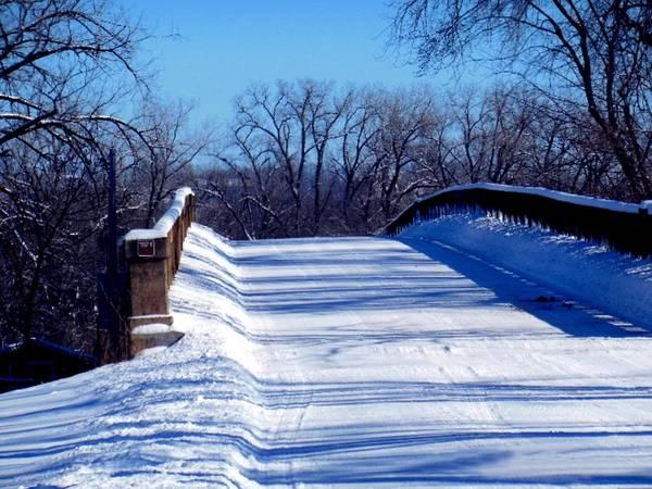 Photograph - Winter Wagon Bridge by Wild Thing