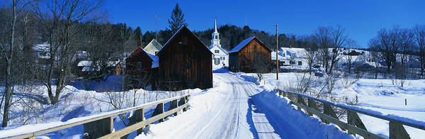 Methodist Church Wall Art - Photograph - Winter Waits River Vt by Panoramic Images