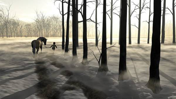 Frost Digital Art - Winter Walk by Cynthia Decker