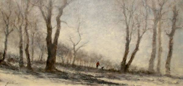 Painting - Winter Walk by Jim Gola