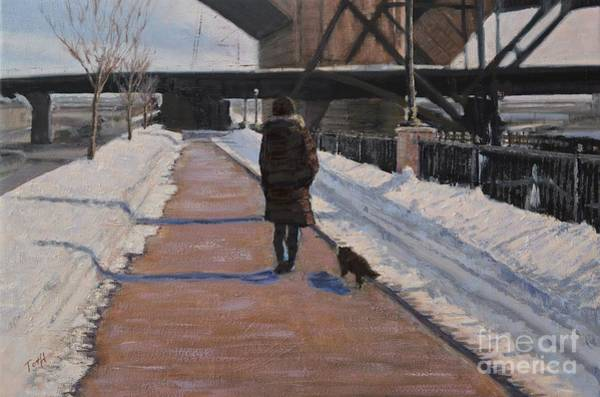 Painting - Winter Walk by Laura Toth