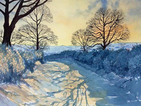 Painting - Winter Walk On Wykeham Road by Glenn Marshall