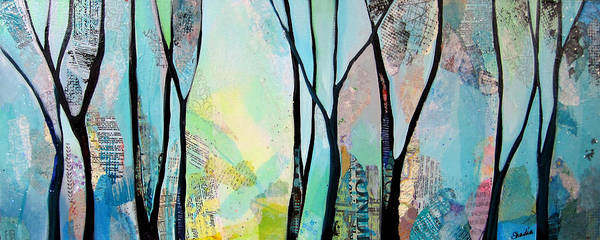 Collage Wall Art - Painting - Winter Wanderings I by Shadia Derbyshire