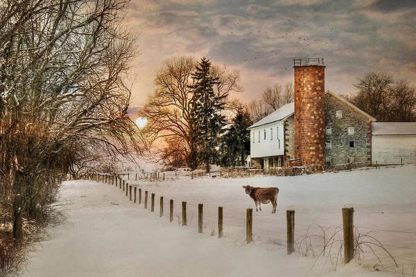 Pennsylvania Barn Photograph - Winter Warmth by Lori Deiter