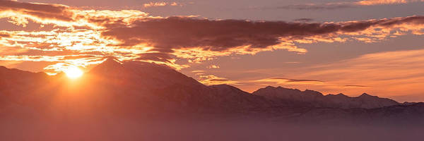 Wall Art - Photograph - Winter Wasatch Daybreak by Chad Dutson