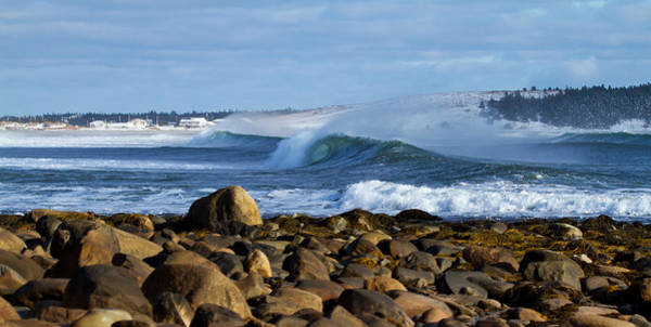 Wall Art - Photograph - Winter Blue Crashing Waves by Trevor Nicodemo