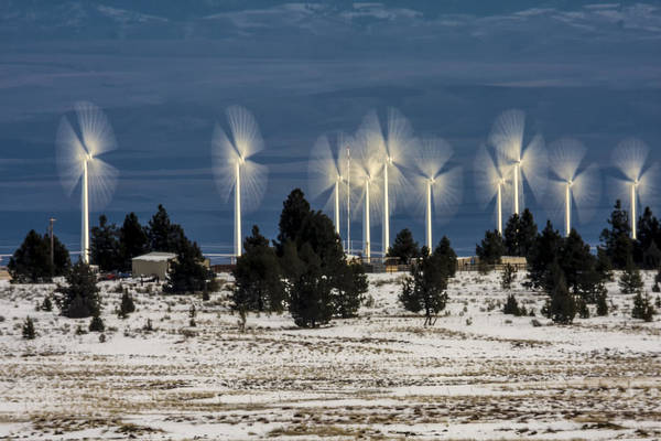 Photograph - Winter Wind Power by Albert Seger