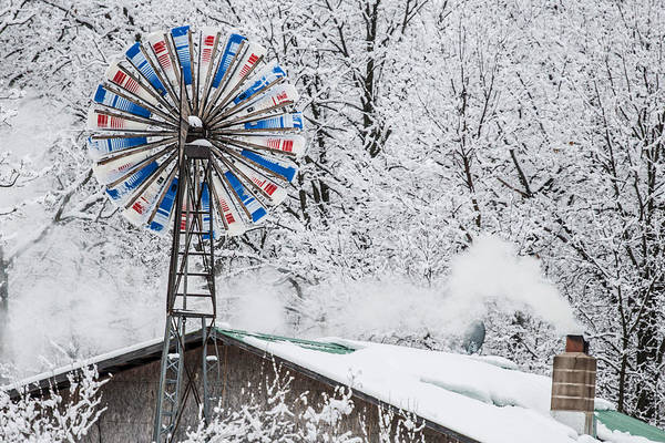 Wall Art - Photograph - Winter Windmill by Paul Freidlund