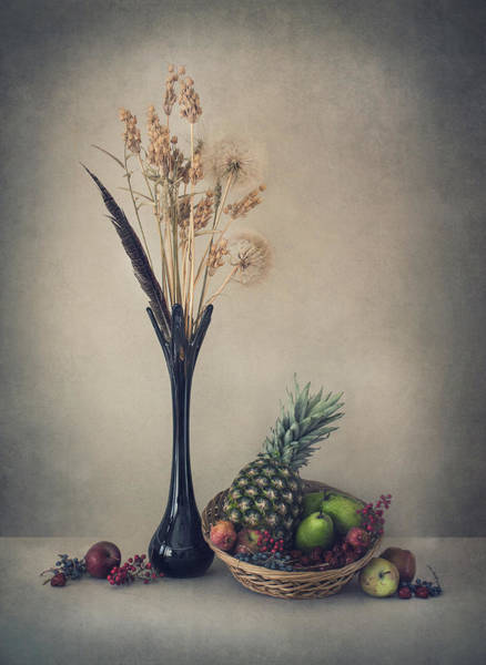 Vases Photograph - Winter With Fruits by Dimitar Lazarov -