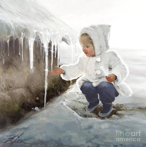 Barn Snow Painting - Winter Wonder by Donald Zolan