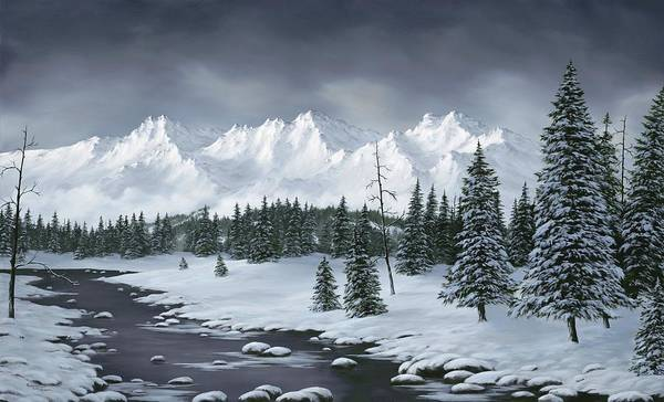 Snowscape Painting - Winter Wonderland by Rick Bainbridge