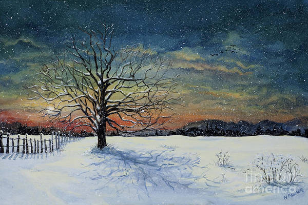 Painting - Winters Eve by Mary Palmer