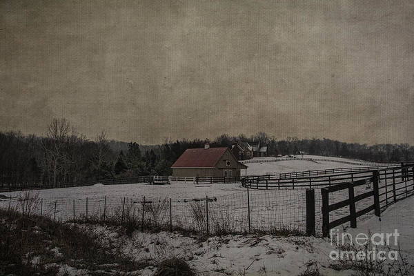 Photograph - Winter's Farm by Terry Rowe