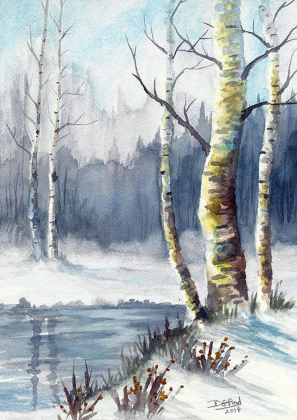 Wall Art - Painting - Winter's Touch by David G Paul