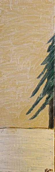 Painting - Winter's Tree by Mario MJ Perron