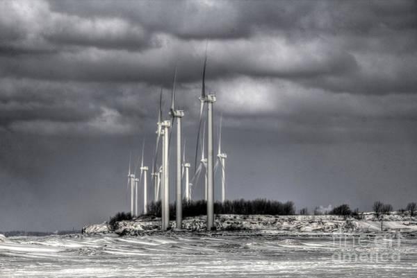 Photograph - Wintry Windmills by Jim Lepard