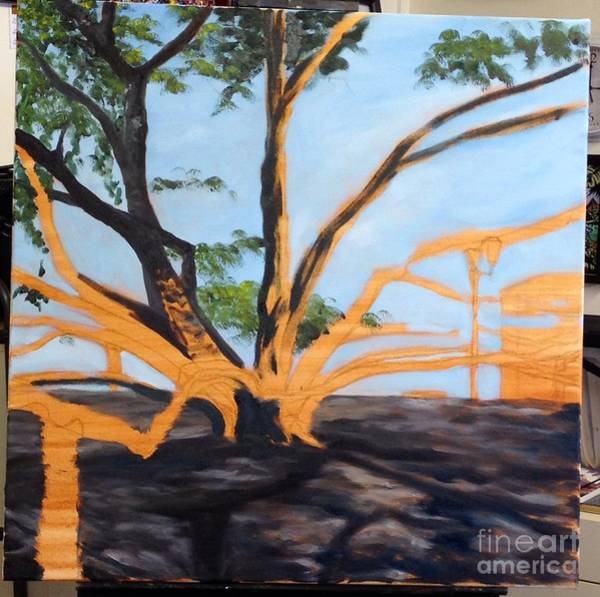 Painting - Wip Banyan Tree 2 by Darice Machel McGuire