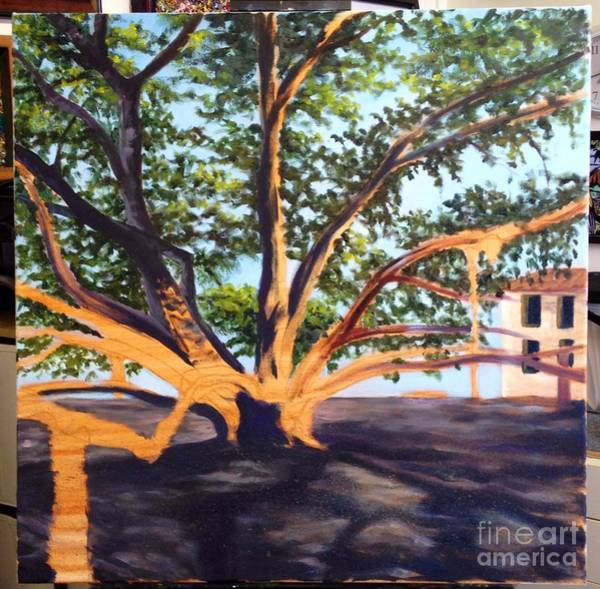Painting - Wip Banyan Tree 3 by Darice Machel McGuire