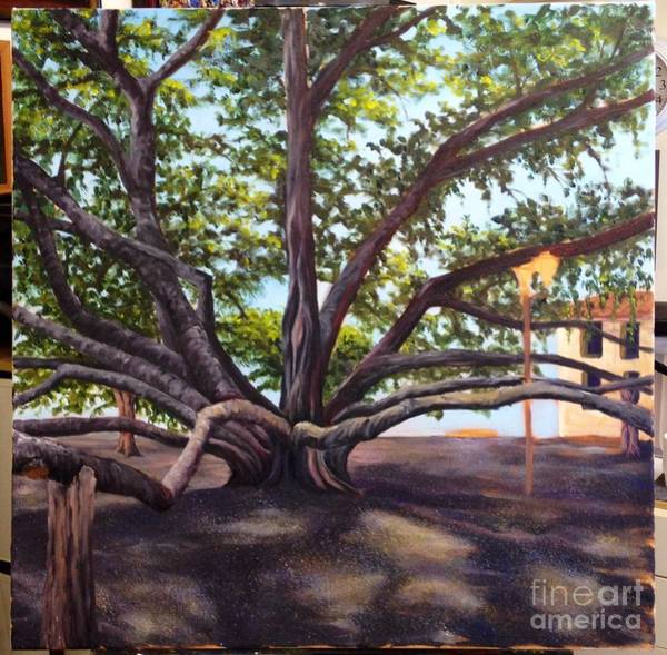 Painting - Wip Banyan Tree 4 by Darice Machel McGuire