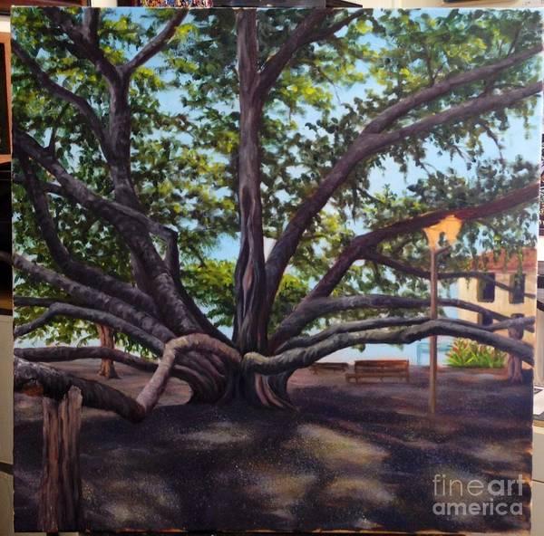 Painting - Wip Banyan Tree 5 by Darice Machel McGuire