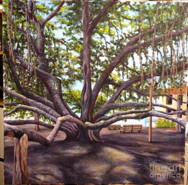 Painting - Wip Banyan Tree 6 by Darice Machel McGuire