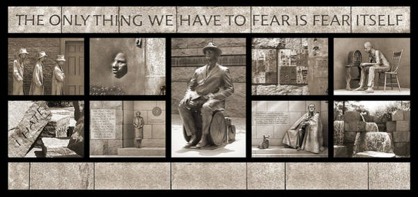 Wall Art - Photograph - Wip - Fdr Memorial - Washington Dc by Mike McGlothlen