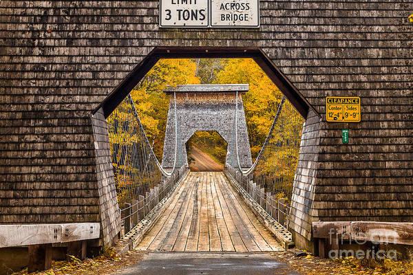 Wall Art - Photograph - Wire Bridge by Benjamin Williamson