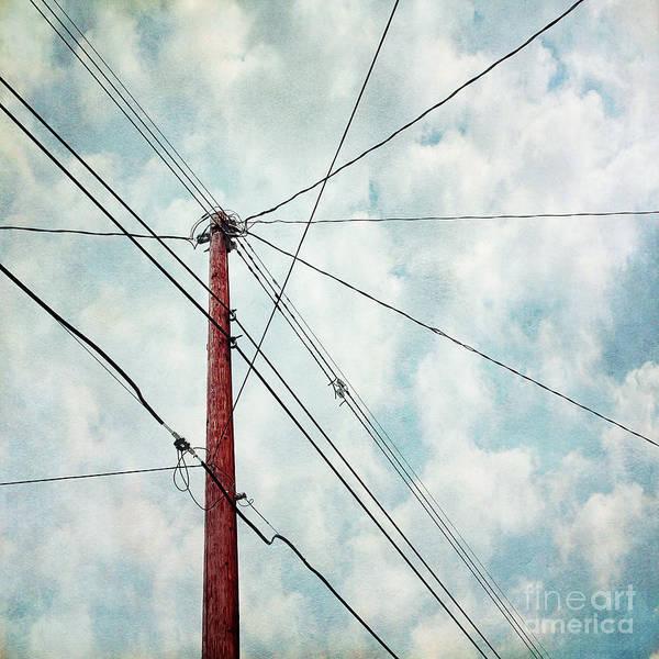 Utility Pole Photograph - Wired by Priska Wettstein