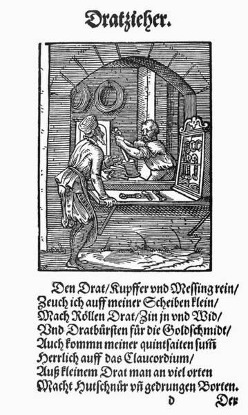 German Renaissance Drawing - Wiredrawer, 1568 by Granger