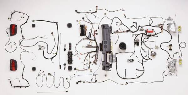 Wall Art - Photograph - Wiring Loom Of Modern Car by Dorling Kindersley/uig