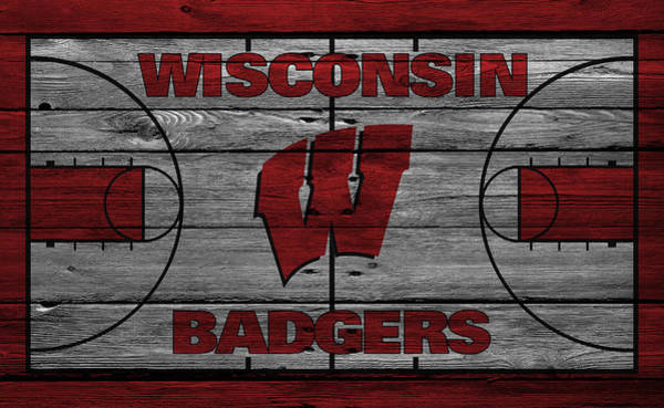 Court Photograph - Wisconsin Badger by Joe Hamilton