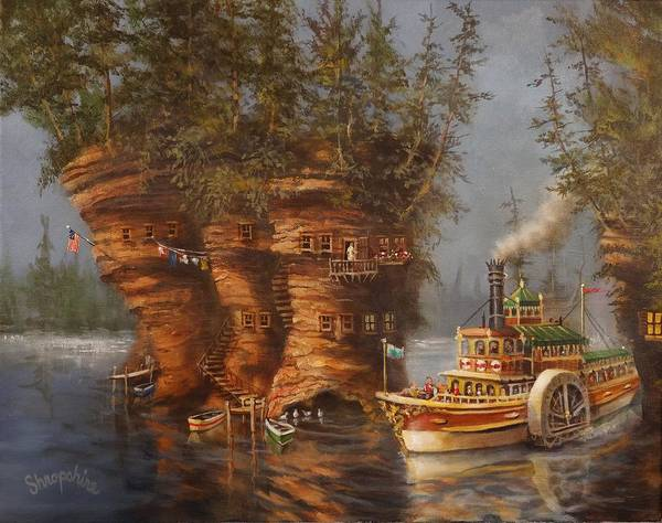 Riverboat Painting - Wisconsin Dells Fantasy by Tom Shropshire