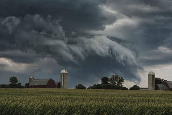 Wi Wall Art - Digital Art - Wisconsin Farm by Jack Zulli