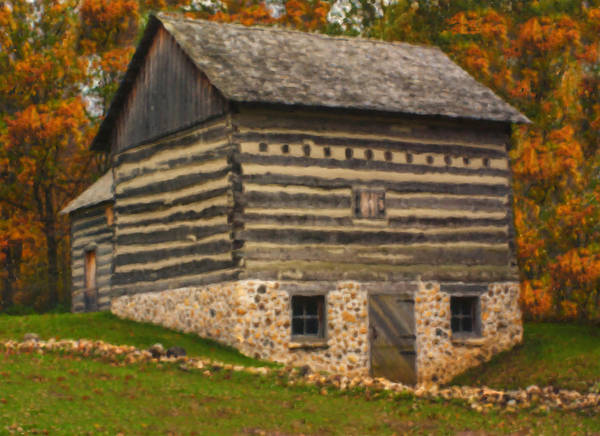 Wall Art - Painting - Wisconsin Homestead by Jack Zulli