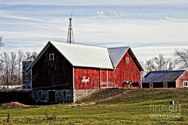 Photograph - Wisconsin Old Barn 5 by Ms Judi