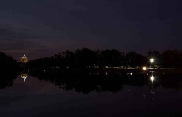 Photograph - Wisconsin River After Dark by Dale Kauzlaric