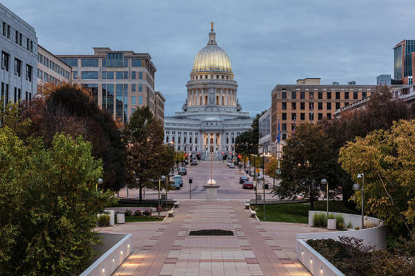 Wall Art - Photograph - Wisconsin State Capitol Building by Kenneth C. Zirkel