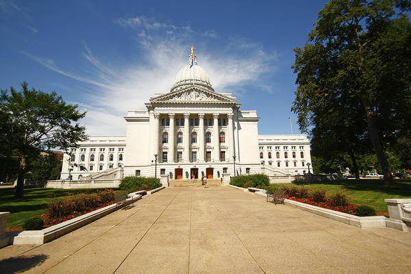 Photograph - Wisconsin State Capitol by Michael Hope