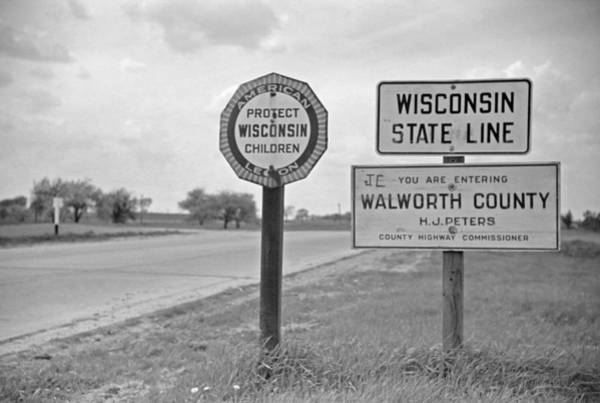 Wall Art - Photograph - Wisconsin State Line, 1939 by Granger