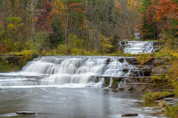 Photograph - Wiscoy Falls 7k03007 by Guy Whiteley