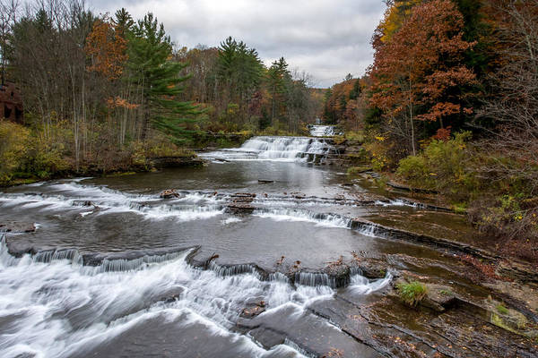 Photograph - Wiscoy Falls 7k03020 by Guy Whiteley