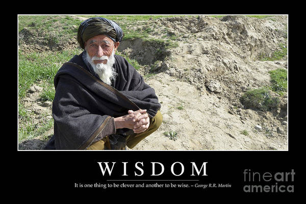 Photograph - Wisdom Inspirational Quote by Stocktrek Images