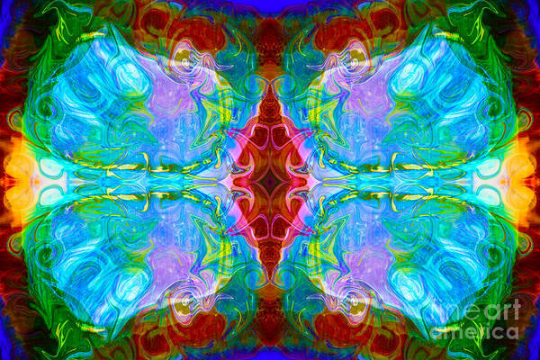 Digital Art - Wisdome And Mystery Abstract Pattern Artwork By Omaste Witkowski by Omaste Witkowski