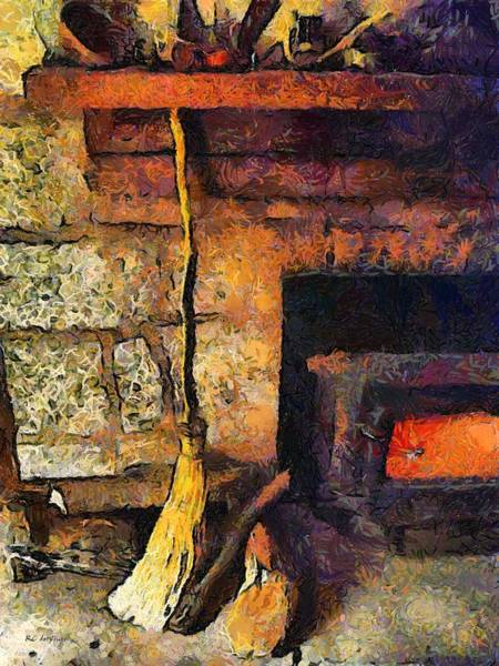 Painting - Wisewoman's Hearth by RC DeWinter