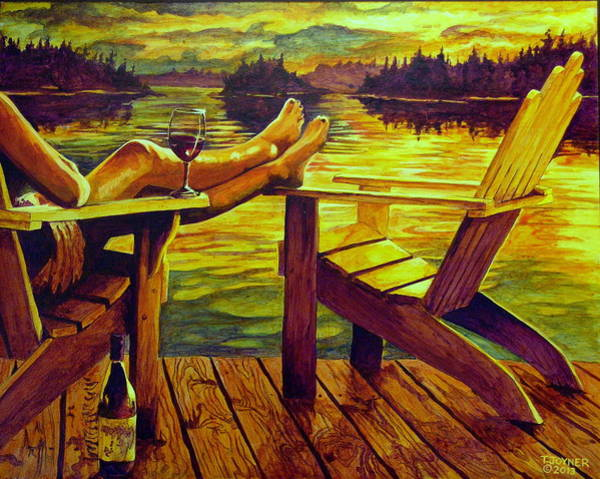 Painting - Wish You Were Here Too by Tim  Joyner