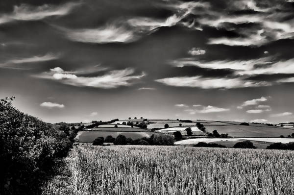 Photograph - Wispy Clouds Over Caseberry Downs by Pete Hemington