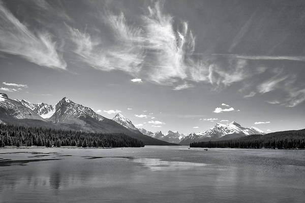Photograph - Wispy Clouds Over Maligne Lake by Stuart Litoff