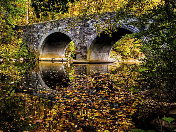 Photograph - Wissahickon Park Bridge by Louis Dallara